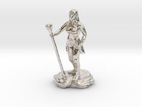 Half Elf Half Wizard/Rogue with Staff and dagger in Platinum