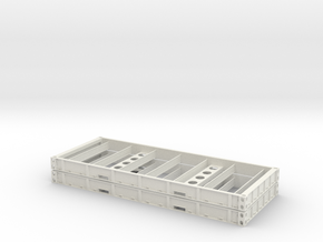 1:87 2 X 20 Plattform Container Holzboden in White Strong & Flexible