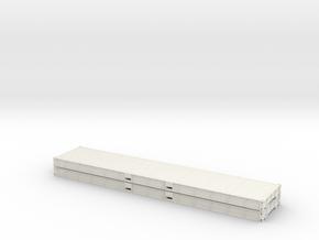 1:87 2 X 40 Plattform Container Metallboden in White Natural Versatile Plastic