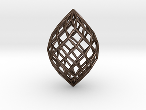 0512 Polar Zonohedron E [10] #001 in Polished Bronze Steel