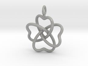 Heart Petals 4 Leaf Clover - 3.3cm - wLoopet in Aluminum
