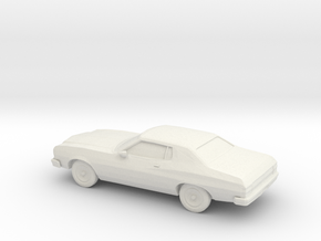 1/87 1974 Ford Torino Starsky and Hutch in White Natural Versatile Plastic