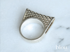 • b l o u •  Ring - Special Volume - #1 in Rhodium Plated: 7.5 / 55.5