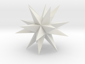 Spikey Stellation 4 in White Strong & Flexible