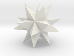 Spikey Stellation 2.8 in White Natural Versatile Plastic
