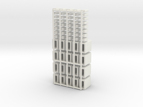 1/24scale  Gallon Quart Containers in White Natural Versatile Plastic