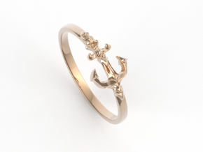 Anchor Of Hope Ring  in 14k Rose Gold Plated Brass: 6 / 51.5