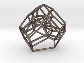 Associahedron in Polished Bronzed Silver Steel