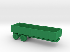 1/144 Scale M-35 Cargo Trailer in Green Strong & Flexible Polished