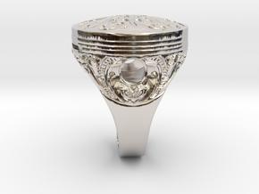 Piston Baroque in Rhodium Plated Brass