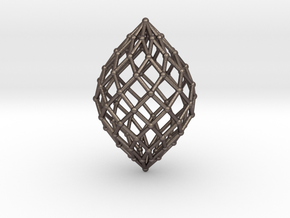 0579 Polar Zonohedron V&E [10] #002 in Polished Bronzed Silver Steel