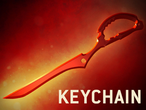 Scissor Blade (Keychain) - Kill La Kill in Red Strong & Flexible Polished