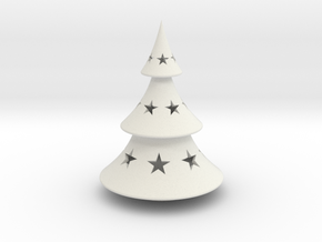 Xmas Tree Simple in White Natural Versatile Plastic