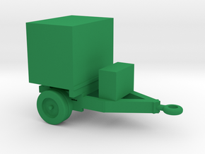 1/144 Scale Generator Trailer in Green Strong & Flexible Polished