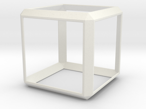 Modern Cube in White Natural Versatile Plastic