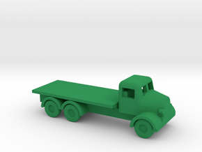1/200 Scale Austin K6 Flat Bed Truck in Green Processed Versatile Plastic
