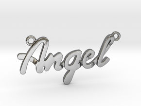 Angel Pendant in Polished Silver