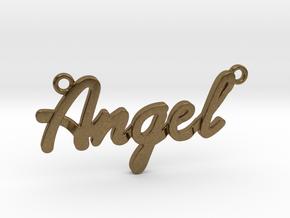 Angel Pendant in Natural Bronze