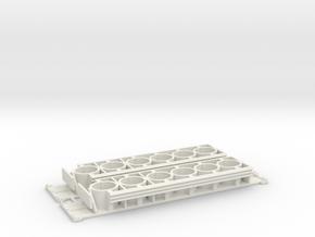 Stationary Crash Attenuator 1-87 HO Scale in White Natural Versatile Plastic