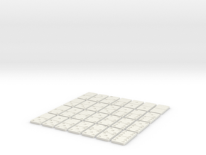 Dominoes double six in White Natural Versatile Plastic