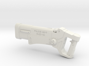 Police Blaster (The Fifth Element), 1/6 in White Natural Versatile Plastic