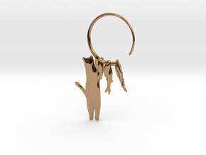 Fishing Cat in Polished Brass