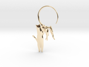 Fishing Cat in 14K Yellow Gold