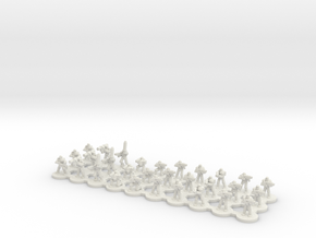 MK III Heavy Armour (6mm) in White Natural Versatile Plastic