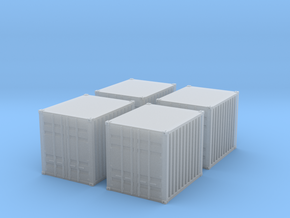 1:160 10 ft container 4 Baucontainer in Smooth Fine Detail Plastic