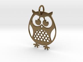 OWL Keychain in Natural Bronze