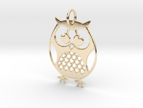 OWL Keychain in 14k Gold Plated Brass