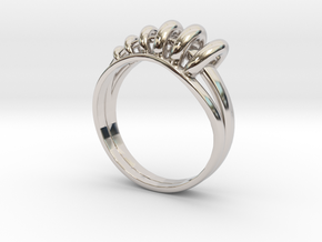 Ring of Rings in Rhodium Plated Brass: 8 / 56.75