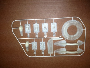 T34 Parts, 1/4 Scale in Smooth Fine Detail Plastic