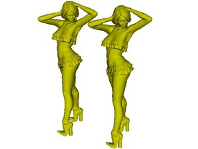 1/50 scale nose-art striptease dancer figure A x 2 in Smoothest Fine Detail Plastic