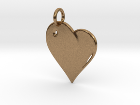 Heart in Natural Brass