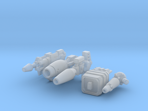 TF Guns Set-03 (5 Pistols) in Smooth Fine Detail Plastic