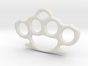 Brass knuckle Pendant in White Natural Versatile Plastic