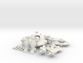 MOD BOT ( STARTER BOT ) in White Natural Versatile Plastic: Large