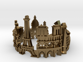 Paris Skyline - Cityscape Ring in Polished Bronze: 9 / 59