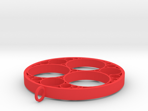 Apollonian pendant in Red Processed Versatile Plastic