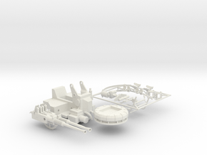 Best Cost 1/35 40mm Bofors Twin Mount SET in White Natural Versatile Plastic