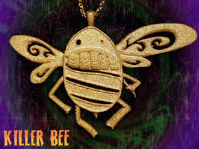 Killer Bee  in Polished Gold Steel