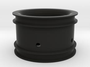 RIM002-00 2.2in Star Wheel, Rear, 0MM Offset in Black Natural Versatile Plastic