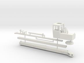 1/50th Oilfield Heavy Picker Type Crane in White Strong & Flexible