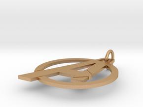 Custom Avengers Pendant in Natural Bronze (Interlocking Parts)