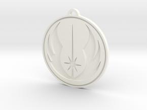 Jedi Pendant in White Processed Versatile Plastic