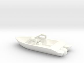 Z Scale Pleasure Boat in White Processed Versatile Plastic