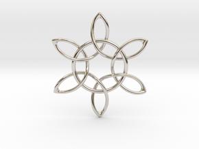 Floral Pendant in Platinum