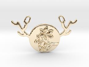 Horned Moon Summer by ~M. in 14k Gold Plated Brass