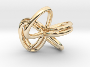 1 Inch Cut Mobius in 14k Gold Plated Brass